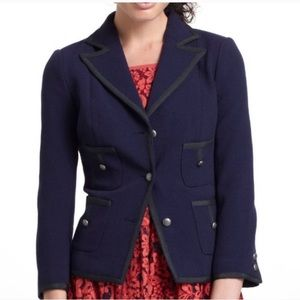 Anthropologie Cartonnier Size 8 Window Pane Blazer